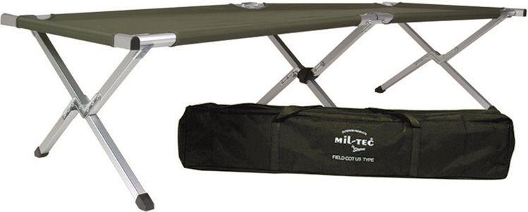 Mil-Tec Skladacia posteľ US - 190x65x42 cm oliva