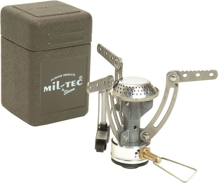 MilTec Turistický plynový varič rozkladací s boxom
