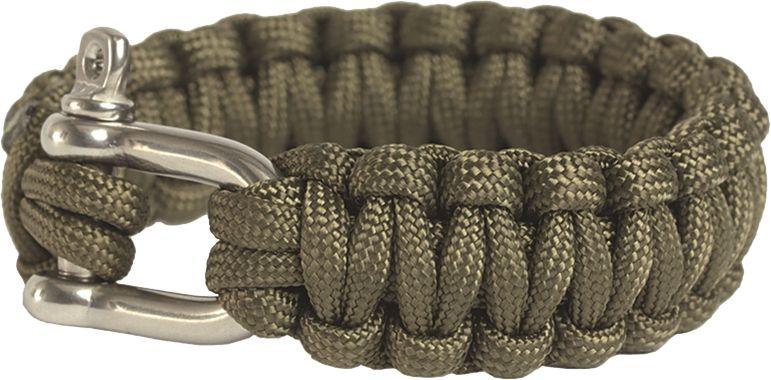 MILTEC Paracord náramok Cobra na ruku 22mm, kovová pracka - coyote (16370405)