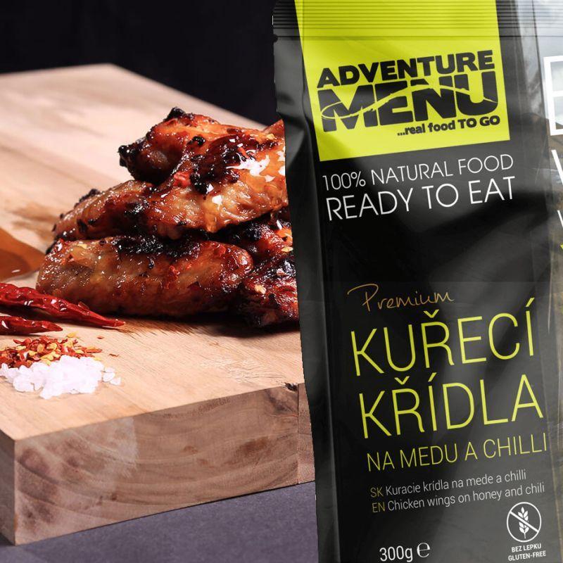Adventure Menu Kuracie krídla na mede a chilli