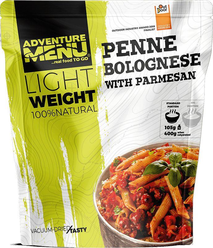 ADVENTURE MENU Light Penne s boloňskou omáčkou a parmezánom 158g/600g