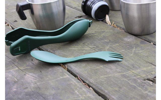 Príbor plastový WILDO 3v1 - olivový