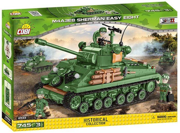 COBI Stavebnica WW2 M4A3E8 Sherman Easy Eight (COBI-2533)