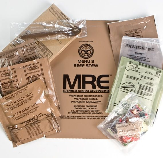 Original US MRE pre zberatelov - Hovädzie kúsky v pikantnej paradajkovej omáčke