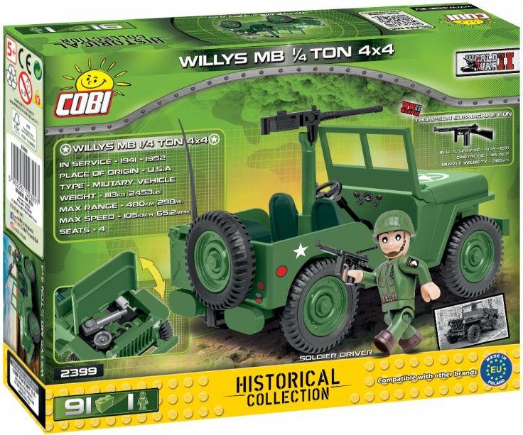 COBI Stavebnica WW2 Willys MB 1/4 TON 4x4 (COBI-2399)