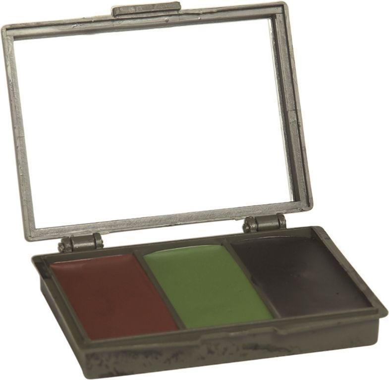 MILTEC Maskovacie šminky na tvár, 3 farby, so zrkadlom, (16351000)