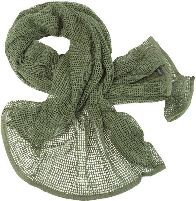 MILTEC Sieťovaná maskovacia šála - olivová, (12625001)