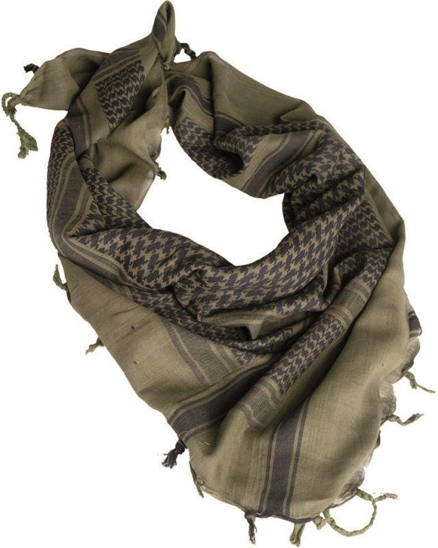 MILTEC Shemag - olivový/čierny, (12610000)