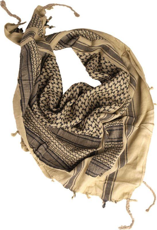 MILTEC Shemag - khaki/čierny, (12611000)