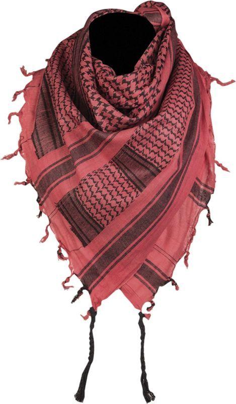 MILTEC Shemag - červený/čierny, (12619000)