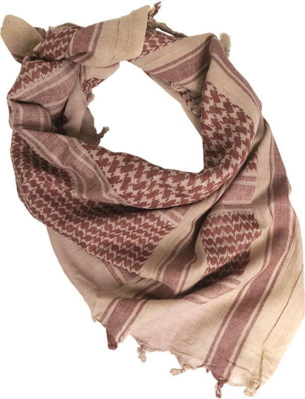 MILTEC Shemag - khaki/hnedý, (12615000)
