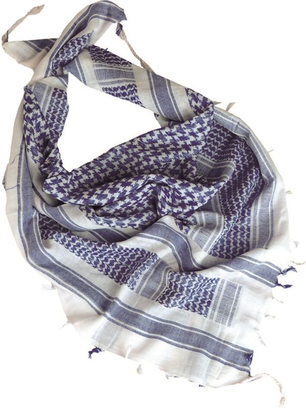 MILTEC Shemag - biely/modrý, (12617000)