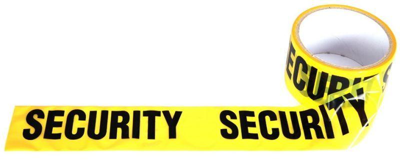 """Ohraničujúca páska """"Security"""" - žltá, (46936299A)"""