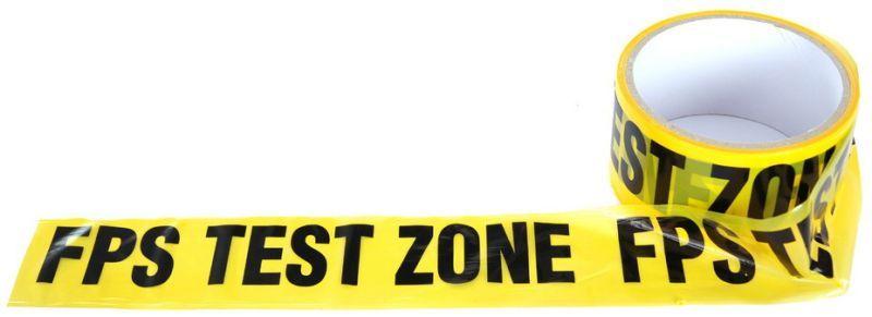 """Ohraničujúca páska """"FPS TEST ZONE"""" - žltá, (46936399A)"""