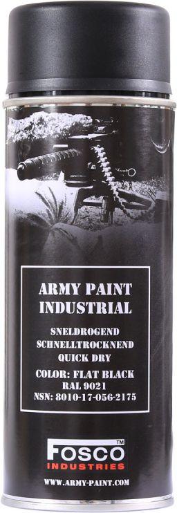 FOSCO Kamuflážna farba na zbraň, sprej 400ml - black / čierna, (469312)