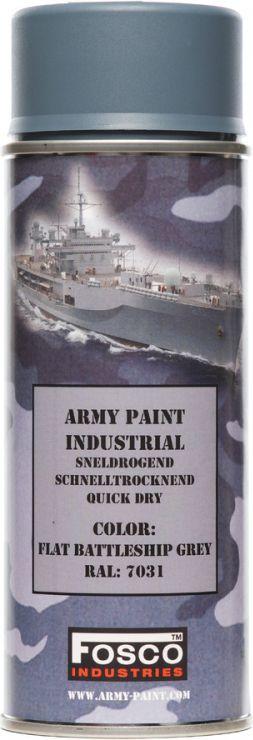 FOSCO Kamuflážna farba na zbraň, sprej 400ml - battle ship grey / battle ship śedá, (469312)