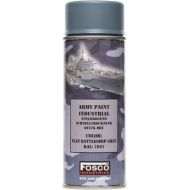 FOSCO Kamuflážna farba na zbraň, sprej 400ml - battle ship grey / battle ship śedá