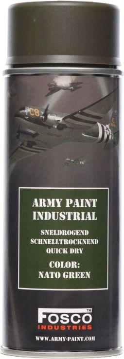 FOSCO Kamuflážna farba na zbraň, sprej 400ml - nato green / nato zelená, (469312)