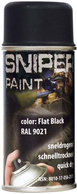 FOSCO Kamuflážna farba na zbraň, sprej 150ml - black / čierna, (469313)