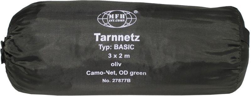MFH Maskovacia sieť BASIC, 3x2m, s taškou - olivová, (27877B)