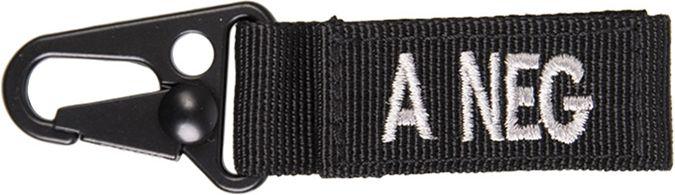 MILTEC prívesok na kľúče A NEG - čierny, (15917202)