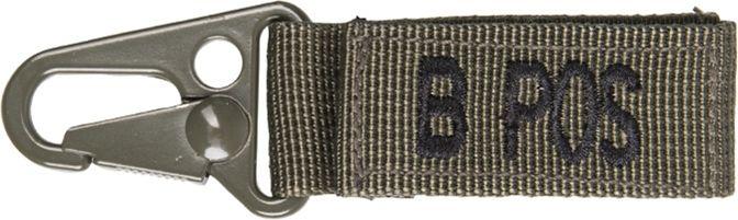 MILTEC prívesok na kľúče B POS - olivový, (15917301)