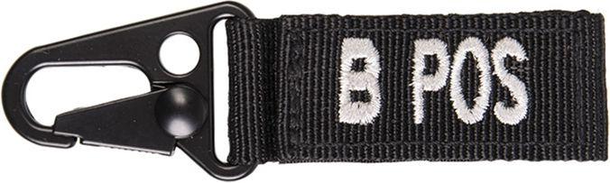 MILTEC prívesok na kľúče B POS - čierny, (15917302)
