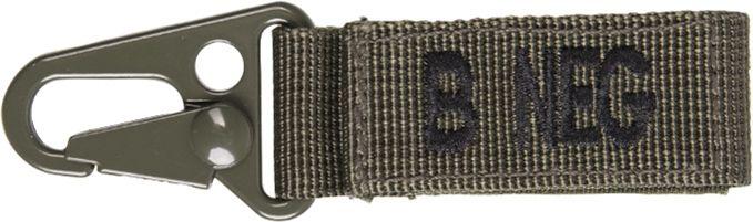 MILTEC Prívesok na kľúče B NEG - olivový (15917401)