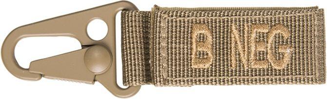 MILTEC prívesok na kľúče B NEG - coyote, (15917405)