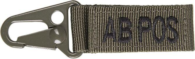 MILTEC prívesok na kľúče AB POS - olivový, (15917501)