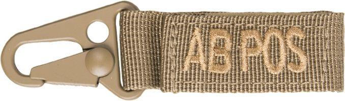 MILTEC prívesok na kľúče AB POS - coyote, (15917505)