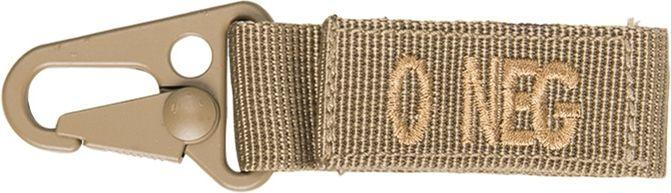 MILTEC prívesok na kľúče O NEG - coyote, (15917805)