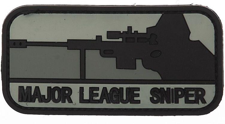 3D PVC Nášivka/Patch Major league sniper - čierna, (444110-355113A)