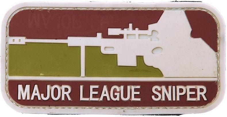3D PVC Nášivka/Patch Major League sniper - arid, (444110-357199A)