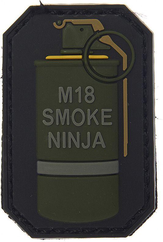 3D PVC Nášivka/Patch M-18 smoke ninja B, (444110-3703)