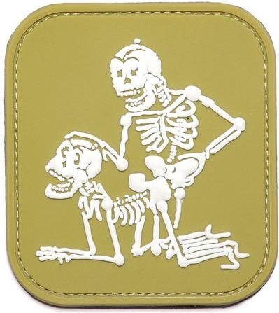 3D PVC Nášivka/Patch Two skeletons - olivová, (444110-352011A)