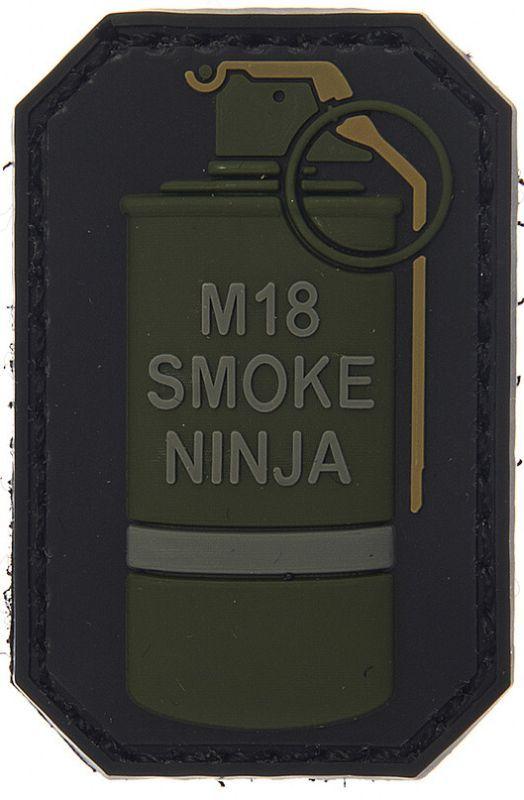 3D PVC Nášivka/Patch M-18 smoke ninja C, (444110-3703)