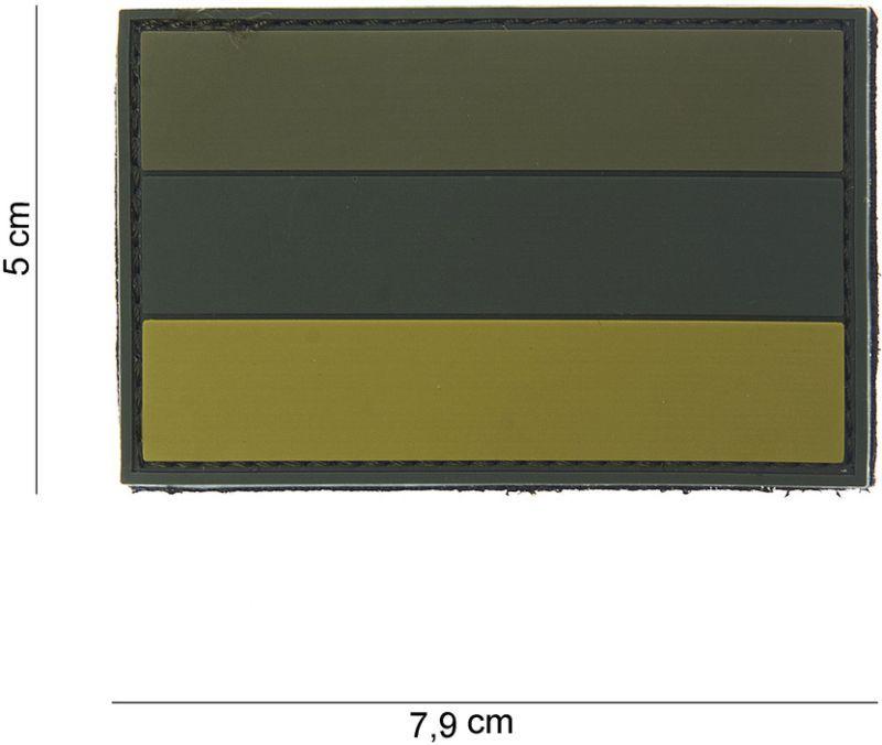 3D PVC Nášivka/Patch Russia - olivová, (444130-3797)