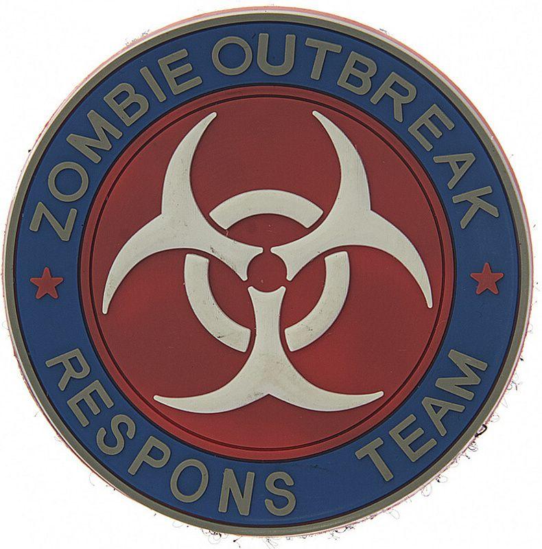 3D PVC Nášivka/Patch Zombie outbreak respons team - farebná, (444150-3707)