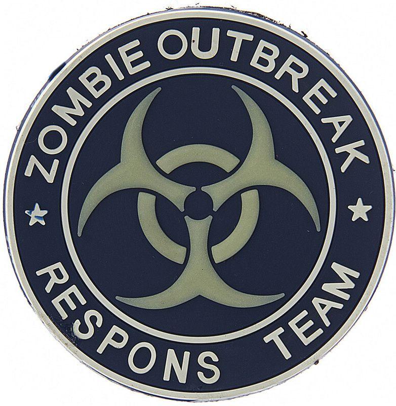 3D PVC Nášivka/Patch Zombie outbreak respons team - modrá, (444150-370899A)