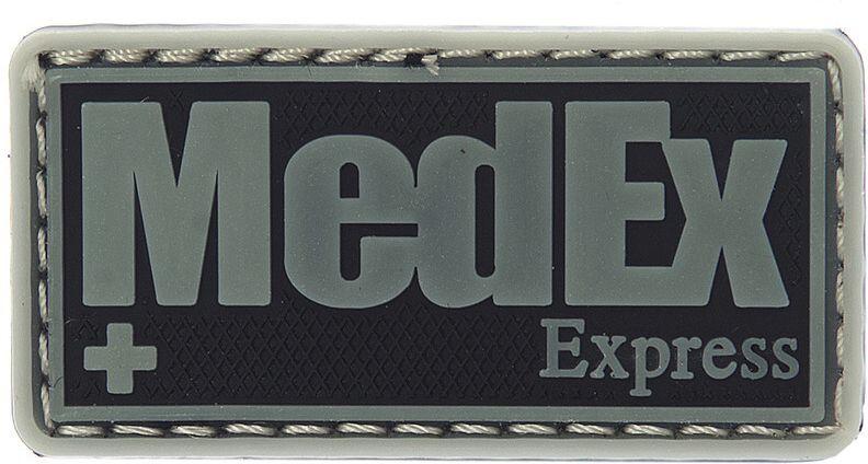 3D PVC Nášivka/Patch MedEx Express - šedá, (444150-371299A)