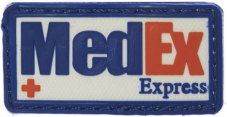 3D PVC Nášivka/Patch MedEx Express - farebná, (444150-371399A)