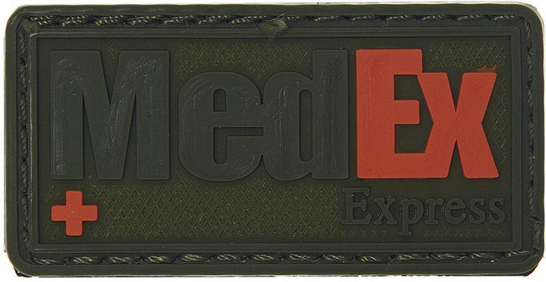 3D PVC Nášivka/Patch MedEx Express - olivová, (444150-371499A)