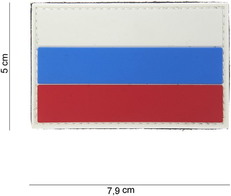 3D PVC Nášivka/Patch Russia - farebná, (444130-3799)