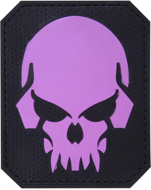 3D PVC Nášivka/Patch Pirate skull - ružová, (444130-5282)