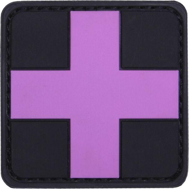 3D PVC Nášivka/Patch Cross - ružová, (444130-5279)