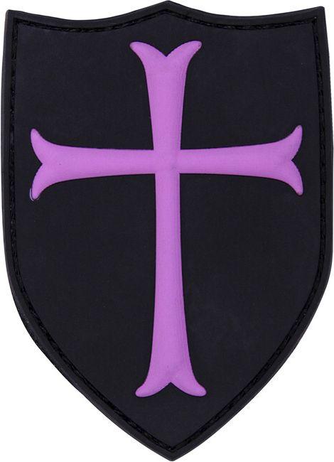 3D PVC Nášivka/Patch Crusader - ružová, (444130-5281)
