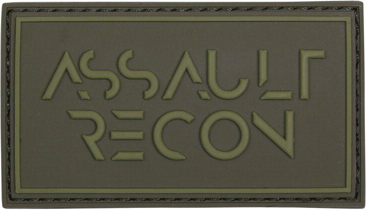3D PVC Nášivka/Patch Assault recon - zelená, (444130-5257)