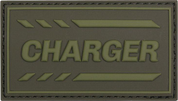 3D PVC Nášivka/Patch Charger - zelená, (444130-5249)