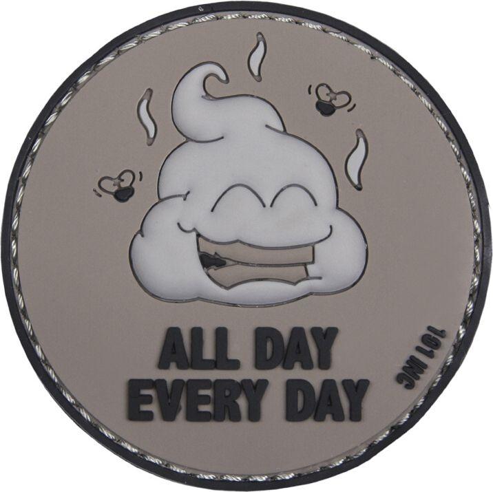 3D PVC Nášivka/Patch All Day Every Day - šedá, (444130-5026)